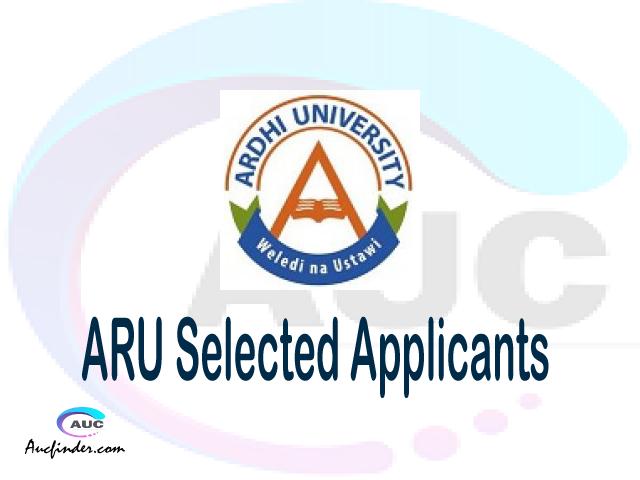 ARU selected applicants 2021/22 pdf, Majina ya waliochaguliwa Ardhi University, Ardhi University selected applicants, Ardhi University ARU Selected candidates 2021, Ardhi University ARU Selected students