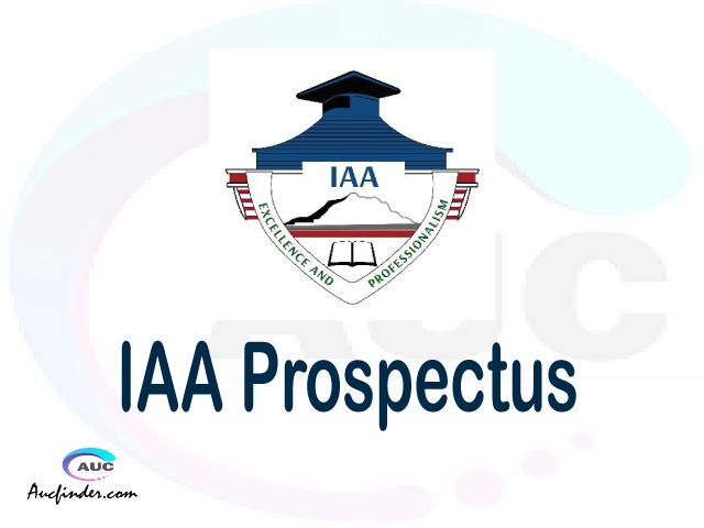 IAA prospectus 2021/2022 IAA prospectus 2021 pdf IAA prospectus postgraduate IAA undergraduate prospectus 2021/2022