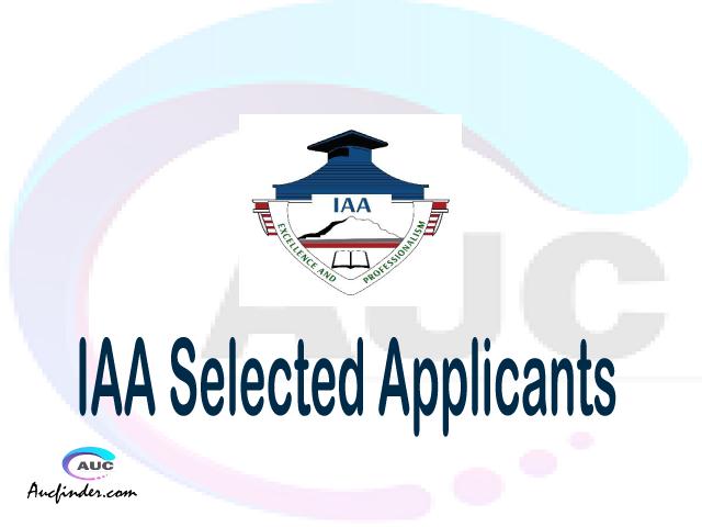 IAA selected applicants 2021/22 pdf, Majina ya waliochaguliwa Institute of Accountancy Arusha, Institute of Accountancy Arusha selected applicants, Institute of Accountancy Arusha IAA Selected candidates 2021, Institute of Accountancy Arusha IAA Selected students