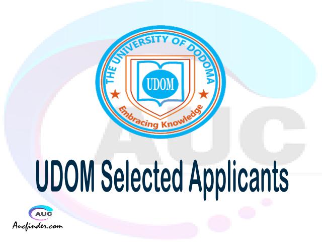 UDOM selected applicants 2021/22 pdf, Majina ya waliochaguliwa University of Dodoma, University of Dodoma selected applicants, University of Dodoma UDOM Selected candidates 2021, University of Dodoma UDOM Selected students