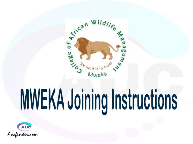 CAWM MWEKA joining instruction pdf 2021/2022 CAWM MWEKA joining instruction pdf CAWM MWEKA joining instruction 2021 Joining Instruction CAWM MWEKA 2021 College of African Wildlife Management joining instructions