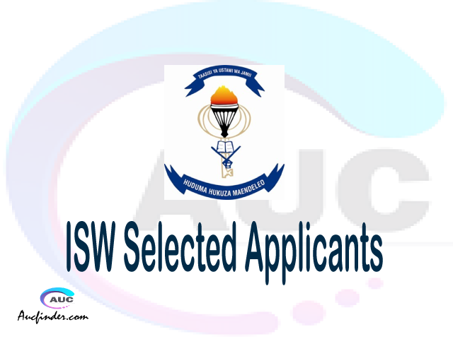ISW selected applicants 2021/22 pdf, Majina ya waliochaguliwa Institute of Social Work, Institute of Social Work selected applicants, Institute of Social Work ISW Selected candidates 2021, Institute of Social Work ISW Selected students