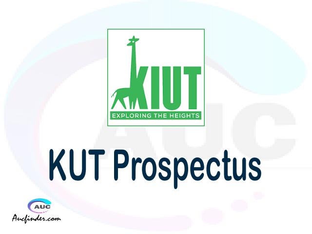 KIUT prospectus 2021/2022 KIUT prospectus 2021 pdf KIUT prospectus postgraduate KIUT undergraduate prospectus 2021/2022