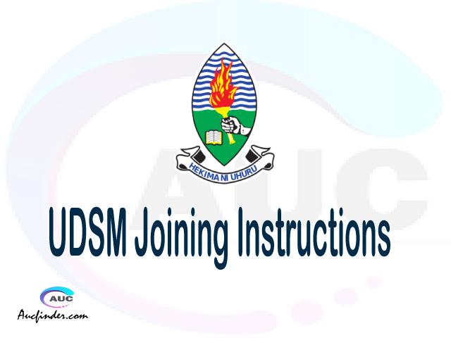 UDSM joining instruction pdf 2021/2022 UDSM joining instruction pdf UDSM joining instruction 2021 Joining Instruction UDSM 2021 University of Dar es Salaam joining instructions