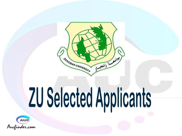 ZU selected applicants 2021/22 pdf, Majina ya waliochaguliwa Zanzibar University, Zanzibar University selected applicants, Zanzibar University ZU Selected candidates 2021, Zanzibar University ZU Selected students