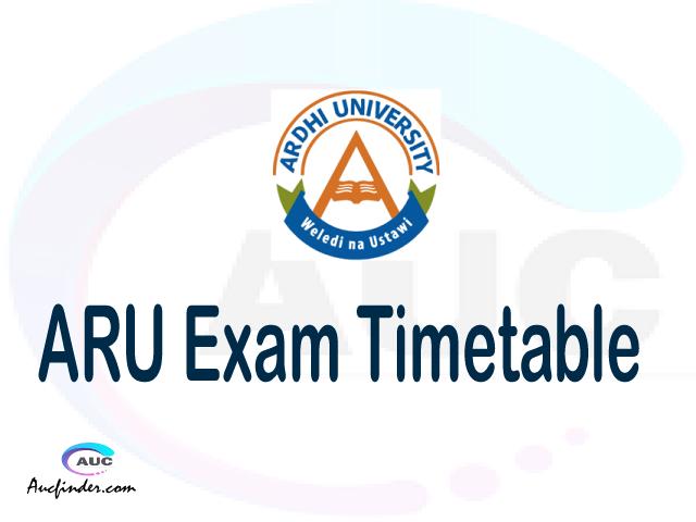 ARU Examination Time Table-, ARU UE timetable, UE timetable ARU, ARU supplementary timetable, ARU UE timetable second semester, ARU supplementary timetable