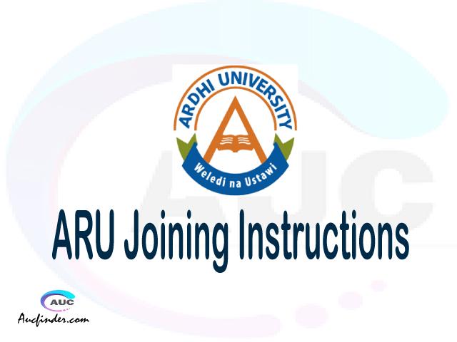 ARU joining instruction pdf 2021/2022 ARU joining instruction pdf ARU joining instruction 2021 Joining Instruction ARU 2021 Ardhi University joining instructions