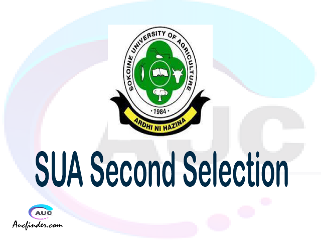 Find SUA second selection - SUA second round selected applicants - SUA second round selection, SUA selected applicants second round, SUA second round selected students