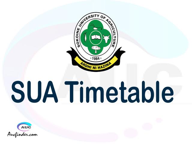 SUA timetable, SUA timetable second semester, SUASIS SUA timetable semester 2, , Second Semester time table, second semester time table,