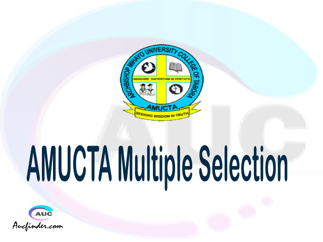 AMUCTA Multiple selection, AMUCTA multiple selected applicants, multiple selection AMUCTA, AMUCTA multiple Admission, AMUCTA Applicants with multiple selection
