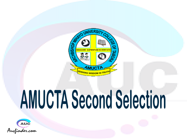 Find AMUCTA second selection - AMUCTA second round selected applicants - AMUCTA second round selection, AMUCTA selected applicants second round, AMUCTA second round selected students