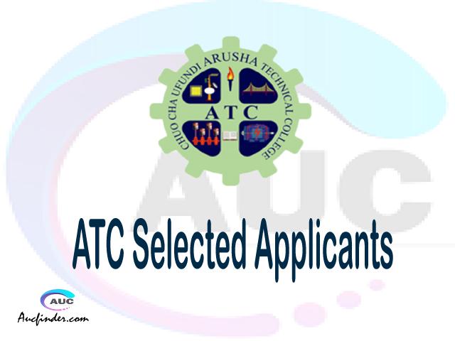 ATC selected applicants 2021/22 pdf, Majina ya waliochaguliwa Arusha Technical College, Arusha Technical College selected applicants, Arusha Technical College ATC Selected candidates 2021, Arusha Technical College ATC Selected students
