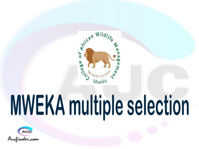 CAWM MWEKA Multiple selection, CAWM MWEKA multiple selected applicants, multiple selection CAWM MWEKA, CAWM MWEKA multiple Admission, CAWM MWEKA Applicants with multiple selection