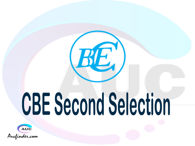 Find CBE second selection - CBE second round selected applicants - CBE second round selection, CBE selected applicants second round, CBE second round selected students