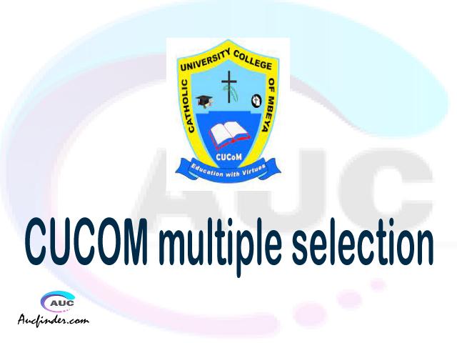 CUCOM Multiple selection, CUCOM multiple selected applicants, multiple selection CUCOM, CUCOM multiple Admission, CUCOM Applicants with multiple selection