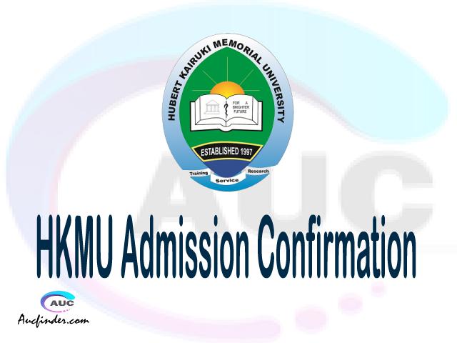 HKMU confirmation code, how to confirm HKMU admission, HKMU confirm admission, HKMU verification code, HKMU TCU confirmation code - confirm your admission at the Hubert Kairuki Memorial University HKMU