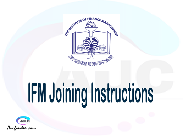 IFM joining instructions pdf IFM joining instructions pdf IFM joining instruction Joining Instruction IFM Institute of Finance Management joining instructions