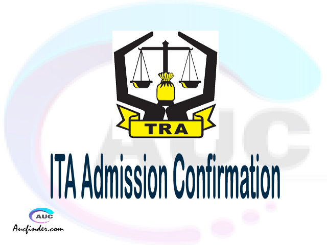 ITA confirmation code, how to confirm ITA admission, ITA confirm admission, ITA verification code, ITA TCU confirmation code - confirm your admission at the Institute of Tax Administration ITA