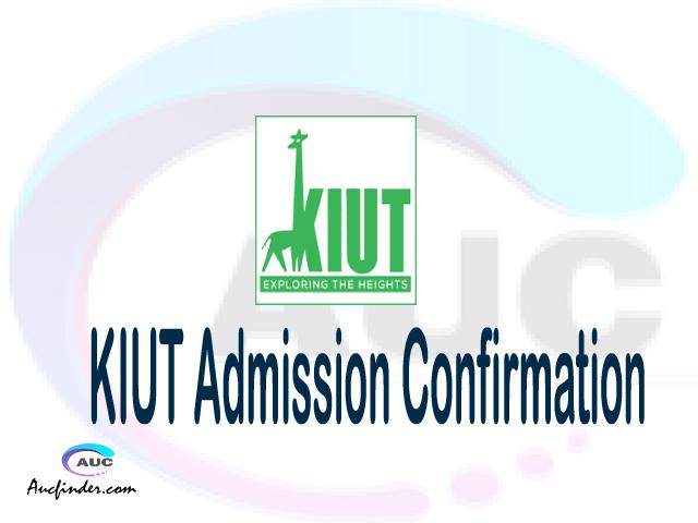 KIUT confirmation code, how to confirm KIUT admission, KIUT confirm admission, KIUT verification code, KIUT TCU confirmation code - confirm your admission at the Kampala International University in Tanzania KIUT