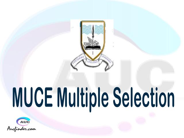 MUCE Multiple selection, MUCE multiple selected applicants, multiple selection MUCE, MUCE multiple Admission, MUCE Applicants with multiple selection
