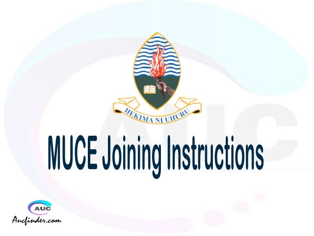 MUCE joining instructions pdf MUCE joining instructions pdf MUCE joining instruction Joining Instruction MUCE Mkwawa University College of Education joining instructions