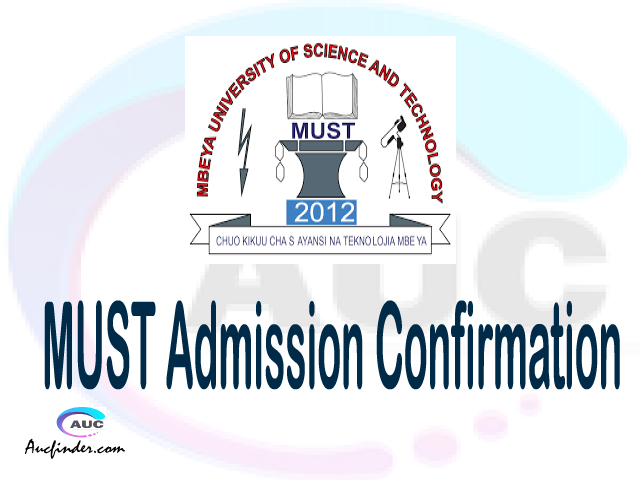 MUST confirmation code, how to confirm MUST admission, MUST confirm admission, MUST verification code, MUST TCU confirmation code - confirm your admission at the Mbeya University of Science and Technology MUST