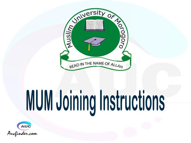 MUM joining instructions pdf MUM joining instructions pdf MUM joining instruction Joining Instruction MUM Muslim University of Morogoro joining instructions