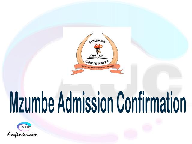 Mzumbe University MU confirmation code, how to confirm Mzumbe University MU admission, Mzumbe University MU confirm admission, Mzumbe University MU verification code, Mzumbe University MU TCU confirmation code - confirm your admission at the Mzumbe University MU