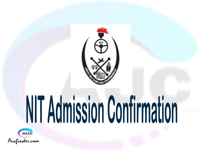 NIT confirmation code, how to confirm NIT admission, NIT confirm admission, NIT verification code, NIT TCU confirmation code - confirm your admission at the National Institute of Transport NIT