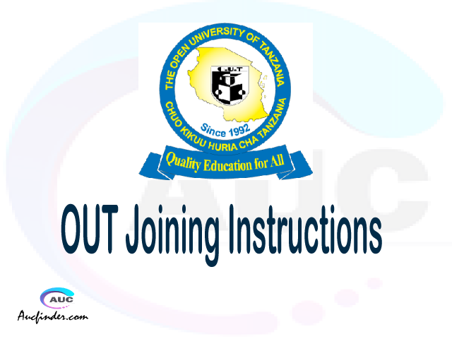 OUT joining instruction pdf OUT joining instruction pdf OUT joining instruction Joining Instruction OUT Open University of Tanzania joining instructions