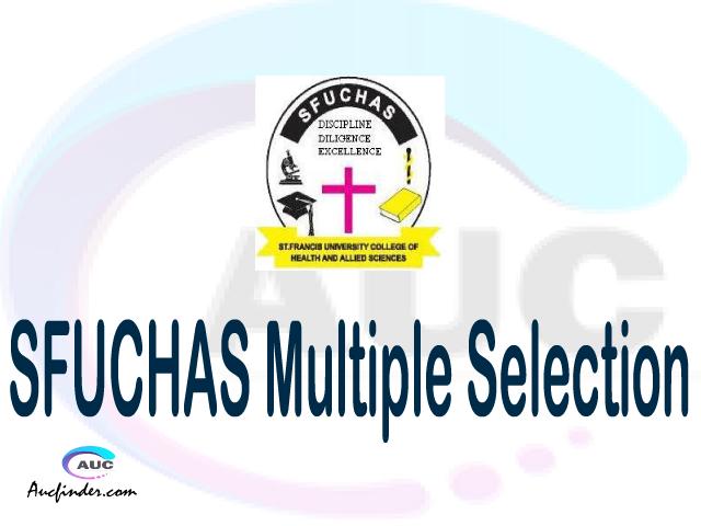 SFUCHAS Multiple selection, SFUCHAS multiple selected applicants, multiple selection SFUCHAS, SFUCHAS multiple Admission, SFUCHAS Applicants with multiple selection