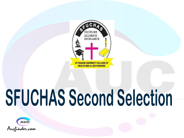 Find SFUCHAS second selection - SFUCHAS second round selected applicants - SFUCHAS second round selection, SFUCHAS selected applicants second round, SFUCHAS second round selected students