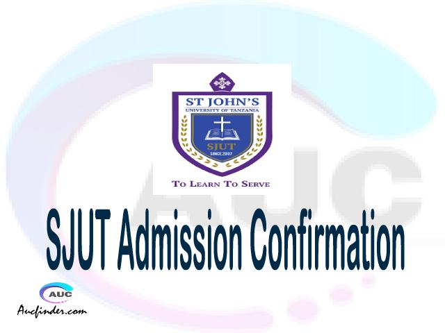 SJUT confirmation code, how to confirm SJUT admission, SJUT confirm admission, SJUT verification code, SJUT TCU confirmation code - confirm your admission at the St. John's University of Tanzania SJUT
