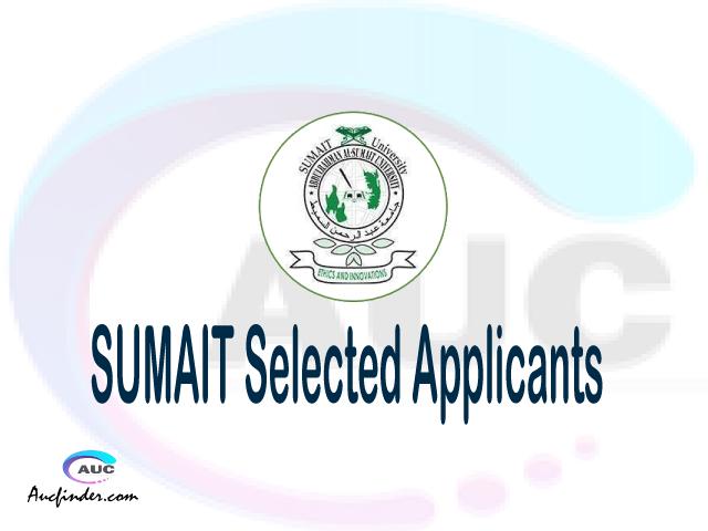 SUMAIT selected applicants 2021/22 pdf, Majina ya waliochaguliwa AbdulRahman Al-Sumait University, AbdulRahman Al-Sumait University selected applicants, AbdulRahman Al-Sumait University SUMAIT Selected candidates 2021, AbdulRahman Al-Sumait University SUMAIT Selected students