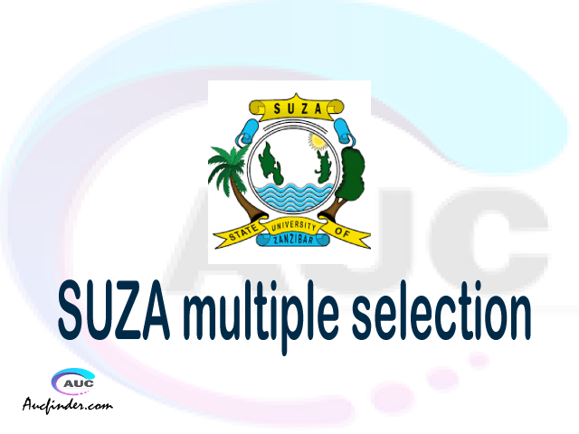 SUZA Multiple selection, SUZA multiple selected applicants, multiple selection SUZA, SUZA multiple Admission, SUZA Applicants with multiple selection