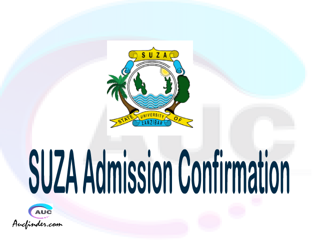SUZA confirmation code, how to confirm SUZA admission, SUZA confirm admission, SUZA verification code, SUZA TCU confirmation code - confirm your admission at the State University of Zanzibar SUZA