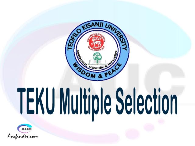TEKU Multiple selection, TEKU multiple selected applicants, multiple selection TEKU, TEKU multiple Admission, TEKU Applicants with multiple selection