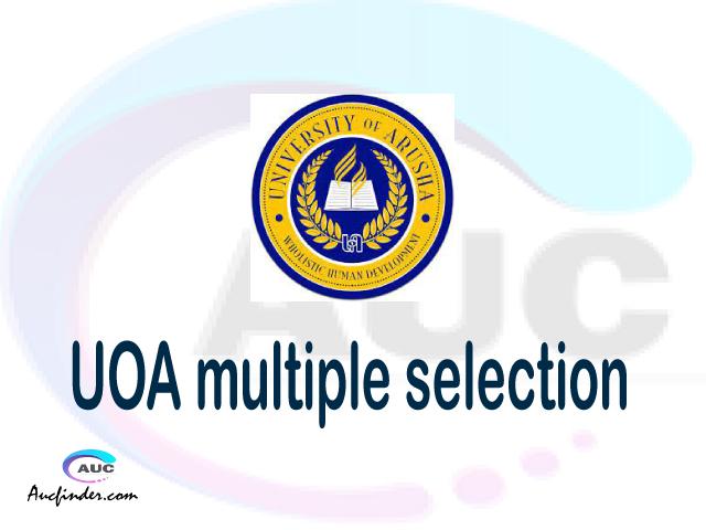 UOA Multiple selection, UOA multiple selected applicants, multiple selection UOA, UOA multiple Admission, UOA Applicants with multiple selection