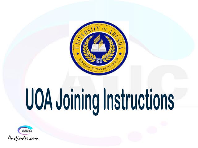 UOA joining instructions pdf UOA joining instructions pdf UOA joining instruction Joining Instruction UOA University of Arusha joining instructions