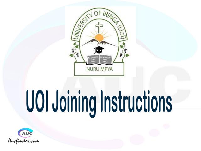 UOI joining instructions pdf UOI joining instructions pdf UOI joining instruction Joining Instruction UOI University of Iringa joining instructions