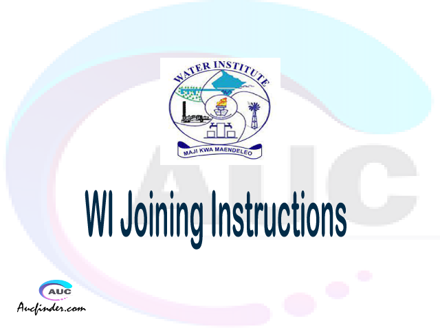 WI joining instructions pdf WI joining instructions pdf WI joining instruction Joining Instruction WI Water Institute joining instructions