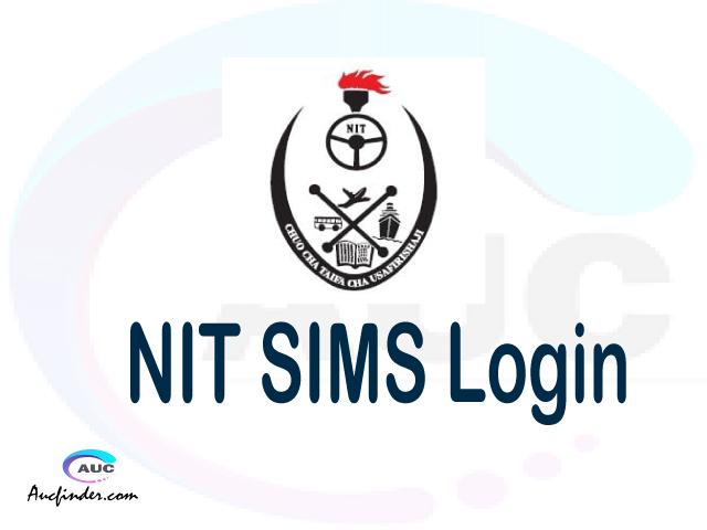 NIT SIMS, National Institute of Transport Student Information Management System, NIT login account My account, NIT login account, NIT login, NIT SIMS NIT login, NIT login to My account Login