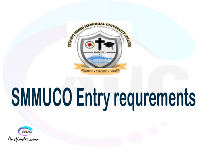 SMMUCO Admission Entry requirements SMMUCO Entry requirements Stefano Moshi Memorial University College Admission Entry requirements, Stefano Moshi Memorial University College Entry requirements sifa za kujiunga na chuo cha Stefano Moshi Memorial University College
