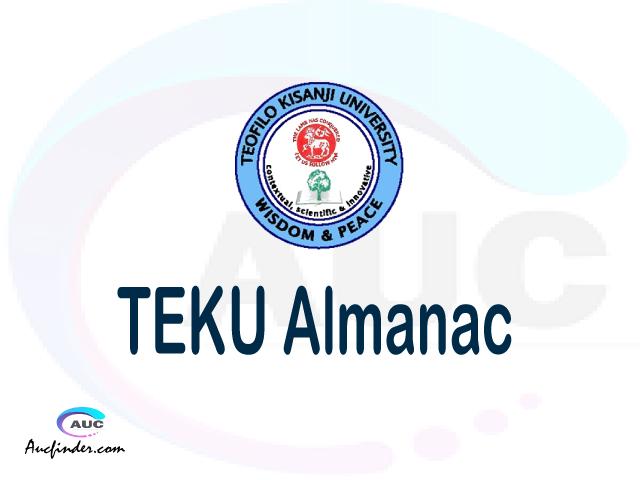 TEKU almanac Teofilo Kisanji University almanac Teofilo Kisanji University (TEKU) almanac Teofilo Kisanji University TEKU almanac Download Teofilo Kisanji University almanac