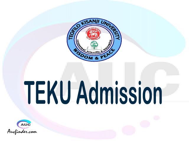 Teofilo Kisanji University Admission Teofilo Kisanji University TEKU Admission