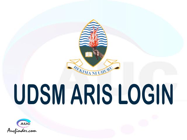 UDSM ARIS, University of Dar es Salaam Academic Registration Information System, UDSM login account My account, UDSM login account, UDSM login, UDSM ARIS UDSM login, UDSM login to My account Login
