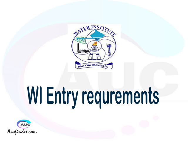 WI Admission Entry requirements WI Entry requirements Water Institute Admission Entry requirements, Water Institute Entry requirements sifa za kujiunga na chuo cha Water Institute