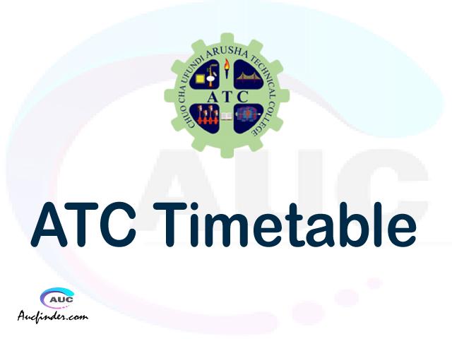 ATC timetable, ATC timetable second semester, SMS ATC timetable semester 2, Second Semester time table, second semester time table,
