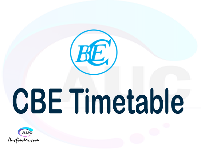 CBE timetable, CBE timetable second semester, COSIS CBE timetable semester 2, Second Semester time table, second semester time table,