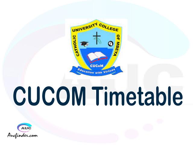 CUCOM timetable, CUCOM timetable second semester, ESRMS CUCOM timetable semester 2, Second Semester time table, second semester time table,